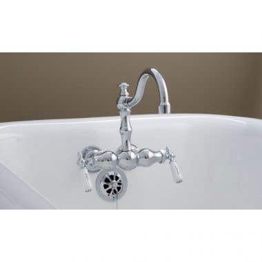Strom Plumbing Clawfoot Tub Faucet with Arched Spout