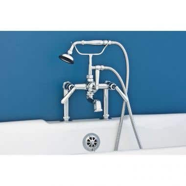 Strom Deck Mount Clawfoot Tub Faucet with Handheld Shower