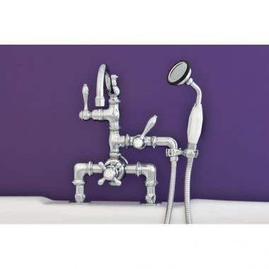 Strom Plumbing Thermostatic Deck Mount Tub Faucet with Handshower