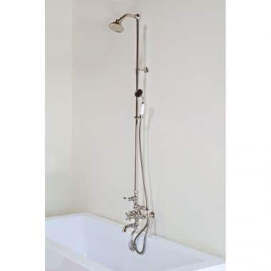 Strom Plumbing Thermostatic Exposed Tub and Shower Set with Handheld Shower