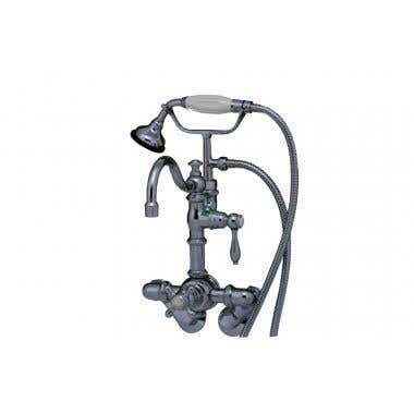 Strom Plumbing Thermostatic Clawfoot Tub Faucet with Handheld Shower