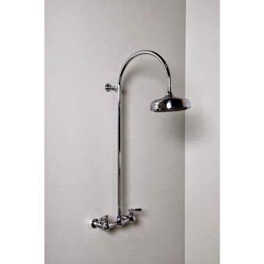 Strom Plumbing Wall Mount Gooseneck Shower Set - Lever Handles