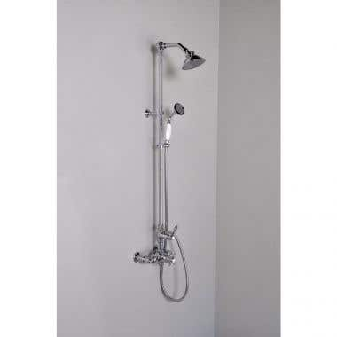 Strom Plumbing Thermostatic Wall Mount Shower set with Handheld Shower