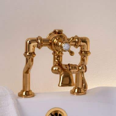 Strom Plumbing Thermostatic Deck Mount Tub Faucet - Adjustable Centers