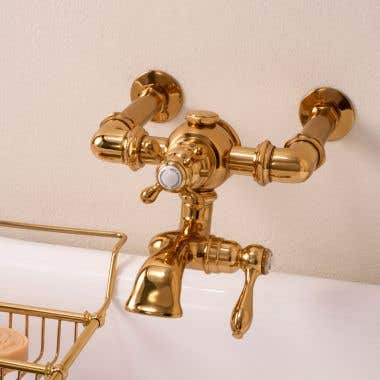 Strom Plumbing Thermostatic Wall Mount Tub Faucet - 7 Inch Centers