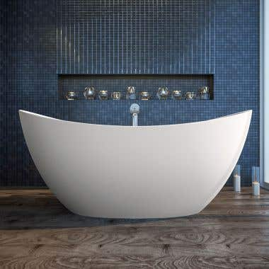 Aquatica Purescape 171 72 Inch Freestanding Solid Surface Bathtub
