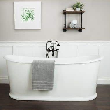 Randolph Morris Ashley Cast Iron Double Ended Skirted Tub