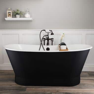 Randolph Morris Devon 67 Inch Cast Iron Double Ended Skirted Tub - No Faucet Drillings