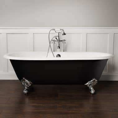 Randolph Morris Kensington Cast Iron Double Ended Clawfoot Tub - No Faucet Drillings