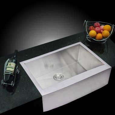 Water Creation Stainless Steel 30 Inch Single Bowl Apron Front Kitchen Sink