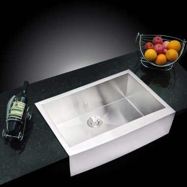 Water Creation Stainless Steel 33 Inch Single Bowl Apron Front Kitchen Sink
