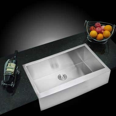 Water Creation Stainless Steel 36 Inch Single Bowl Apron Front Kitchen Sink