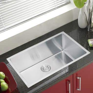 Water Creation Stainless Steel 30 Inch Single Bowl Undermount Kitchen Sink With Coved Corners