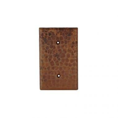 Premier Copper Products Hand Hammered Copper Blank Switch Plate Cover