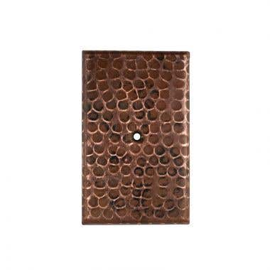 Premier Copper Blank Hand Hammered Copper Switch Plate Cover - Single Hole