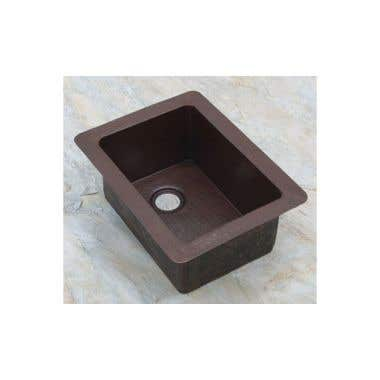 Sierra Copper Bostonian Rectangle 15 In Bar Sink