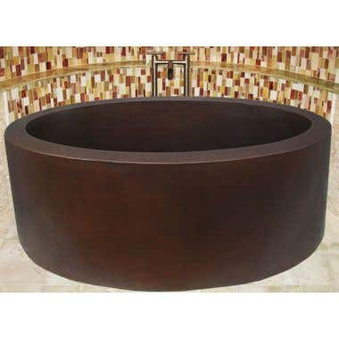 Sierra Copper Providence 64 Inch Double Thick Tub