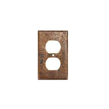Premier Copper Products Copper Switchplate Single Duplex, 2 Hole Outlet Cover