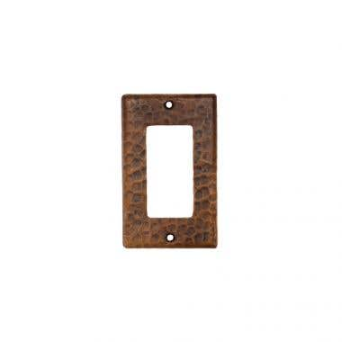 Premier Copper Products Copper Single Ground Fault/Rocker GFI Switchplate Cover
