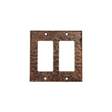 Premier Copper Products Copper Double Ground Fault/Rocker GFI Switchplate Cover