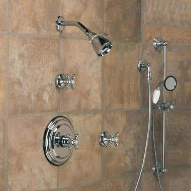 Strom Plumbing Thermostatic Shower Set with Standard Showerhead
