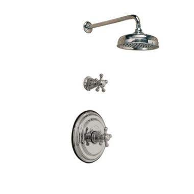 Strom Plumbing Complete Thermostatic Shower Set with 5 Spoke Handles