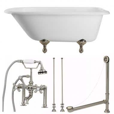 Randolph Morris Heritage 54 Inch Classic Clawfoot Tub Package