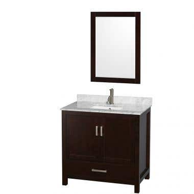 Wyndham Collection Sheffield 36 In Single Square Sink Vanity Set