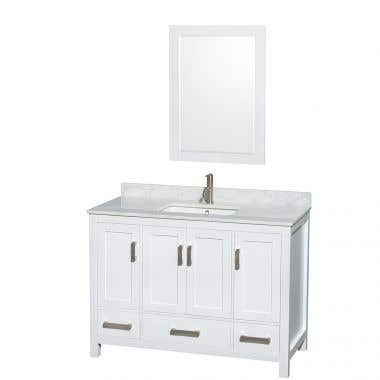 Wyndham Collection Sheffield 48 In Single Square Sink Vanity Set