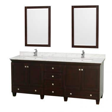 Wyndham Collection Acclaim 80 Inch Double Bowl Bathroom Vanity Set with Undermount Sink