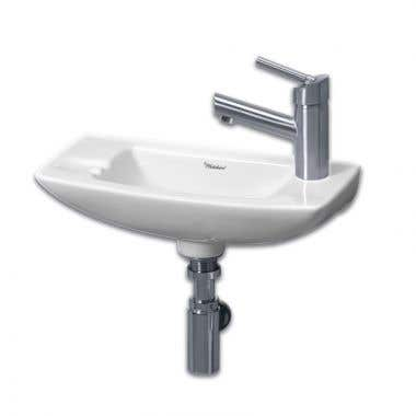 Whitehaus Small Wall Mount Sink - Right Side Single Faucet Drilling
