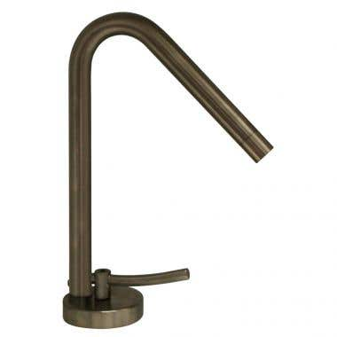 Whitehaus Metrohaus Single Hole Swivel Spoout Bathroom Sink Faucet with Lever Handle