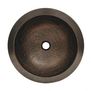 Whitehaus Collection Copperhaus Round Copper Bar Sink - No Faucet Drillings