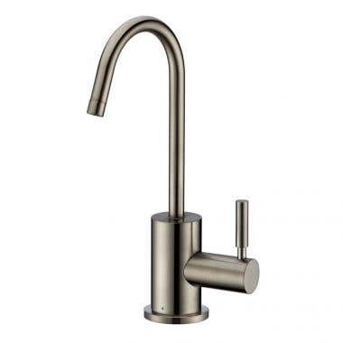 Whitehaus Collection Point of Use Cold Water Drinking Faucet with Gooseneck Swivel Spout