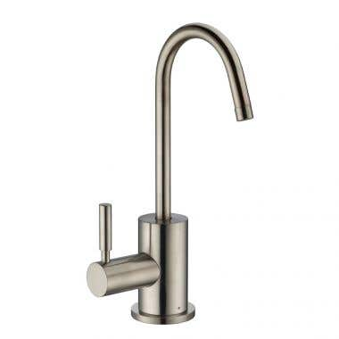 Whitehaus Collection Point of Use Instant Hot Water Drinking Faucet with Gooseneck Swivel Spout