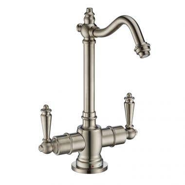 Whitehaus Collection Point of Use Instant Hot/Cold Water Drinking Faucet with Traditional Swivel Spout