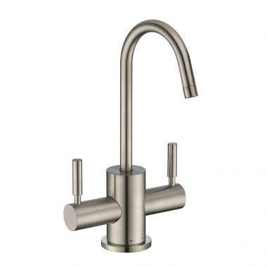 Whitehaus Collection Point of Use Instant Hot/Cold Water Drinking Faucet with Gooseneck Swivel Spout