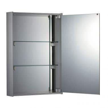Whitehaus Vertical Double Faced Medicine Cabinet with Mirrored Door