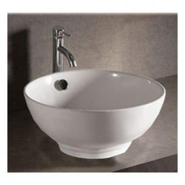 Whitehaus Isabella Collection Vessel Sink with Overflow and Drain