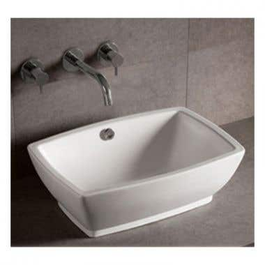 Whitehaus Isabella Collection Rectangular Vessel Sink with Overflow and Drain
