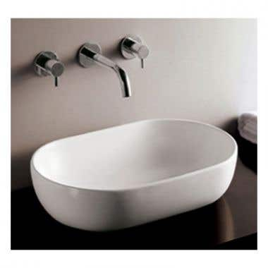 Whitehaus Isabella Collection Oval Vessel Sink with Drain - NO Overflow