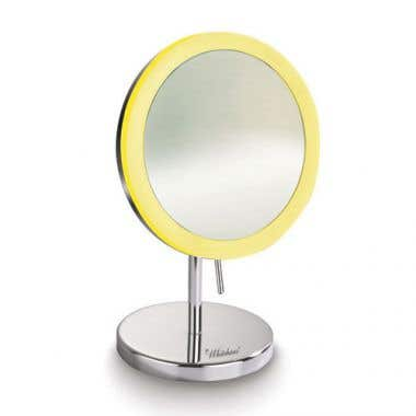 Whitehaus Collection Round Freestanding Led 5X Magnified Mirror