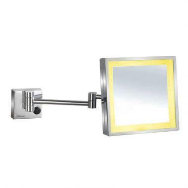 Whitehaus Collection Square Wall Mount Led 5X Magnified Mirror