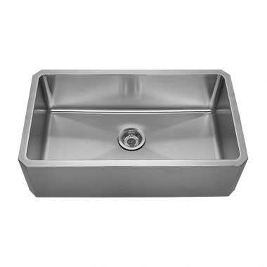 Whitehaus Noah Collection Single Bowl Front Apron Undermount Kitchen Sink - No Faucet Drillings