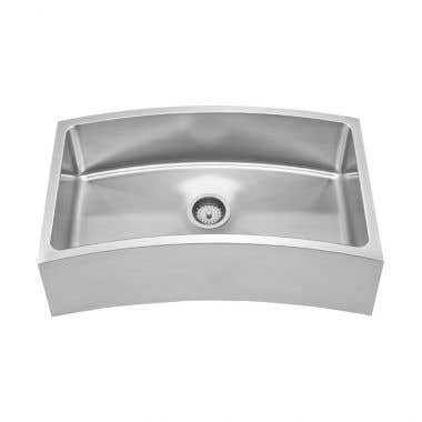 Whitehaus Chefhaus Single Bowl Apron Front Undermount Kitchen Sink - No Faucet Drillings