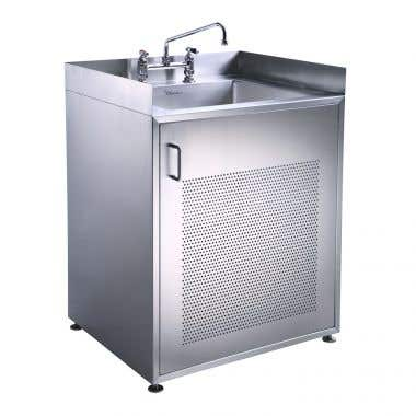 Whitehaus Noah Collection Single Door Stainless Steel Sink With Cabinet