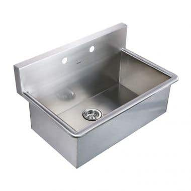 Whitehaus Noah Collection 31 Inch Commercial Drop-In Laundry Sink