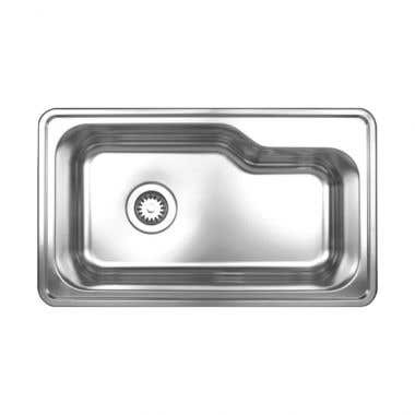 Whitehaus Noah Collection Stainless Steel Drop In Kitchen Sink - No Faucet Drillings