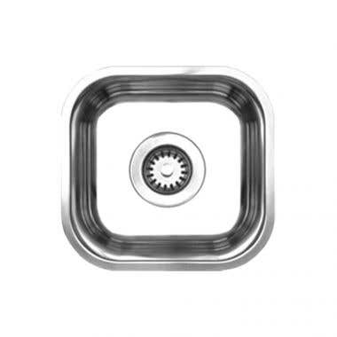 Whitehaus Noah Collection Single Bowl Undermount Kitchen Sink with Center Drain - No Faucet Drillings
