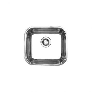 Whitehaus Noah Collection Small Single Bowl Undermount Kitchen Sink - No Faucet Drillings
